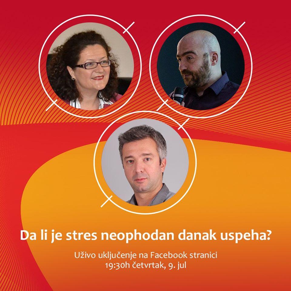 "Razgovor na temu ""Da li je stres neophodan danak uspeha i kako ga kontrolisati"" (VIDEO)"